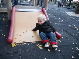 A bit hard to tell but the slide was no higher than Tate's waist!
