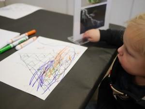 Tate decorating his fractal.