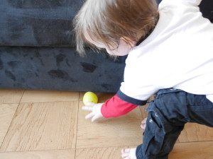 It took mummy showing Knox where an egg was hiding for him to understand and get into the hunt.
