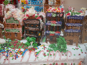 Holiday Fruit Cake Company, Hot Chocolate Brewery, Quilt Shop and Baking School.