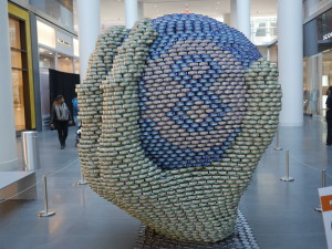 """""""Ask the Magic 8 Ball!"""" by  Gilsanz Murray Steficek.  It was made out of cans of Tuna."""