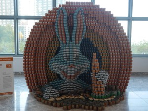 """""""What's Up, Doc?"""" by Gensler.  Using quite a mix of cans and non-perishables."""
