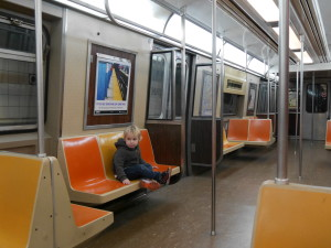 We often end up on one of these trains when we catch the F train!