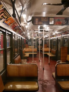 A 1916 subway car.